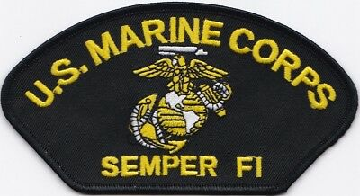 """US MARINE CORPS SEMPER FI (B) Embroidered Patches 2.75""""x5.25"""""""