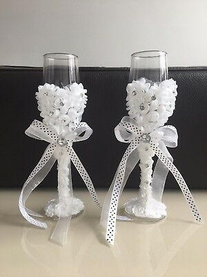 Wedding Champagne Toasting Glasses For Wedding, Engagement Or Anniversury UK.