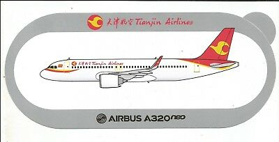 NOUVEAU !!! AIRBUS STICKER AUTOCOLLANT A320neo TIANJIN AIRLINES - NEUF