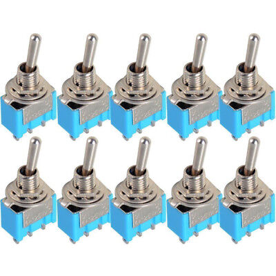 10x AC 125V 6A  3Pin 2 Position SPDT ON-ON Latching Micro Mini Toggle Switch AU