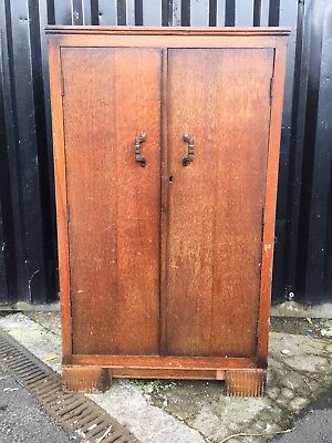 Antique Victorian Oak Cabinet Cupboard