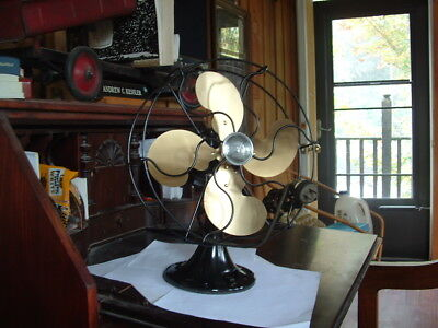 "Nicely Restored 1937 Emerson #2250B 10"" 1 Speed,oscillating Fan Looks+Runs Great"
