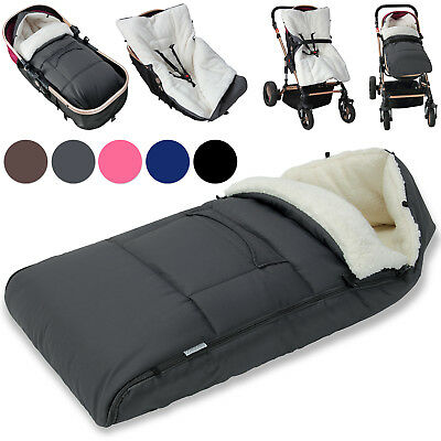 Baby Footmuff Pushchair Stroller Buggy Universal Fitting Lined Pram Foot Muff