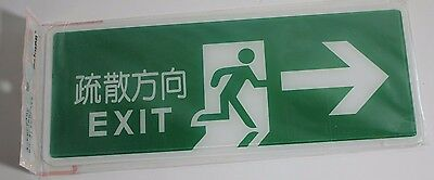 New Japanese Emergency Exit Sign NIP