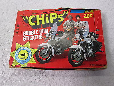CHiPs Bubble Gum Stickers 36 Count - M.G.M Sealed Packs 1979