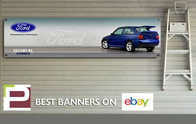 Ford Escort RS Cosworth Banner, for Workshop, garage, office, Showroom sign,