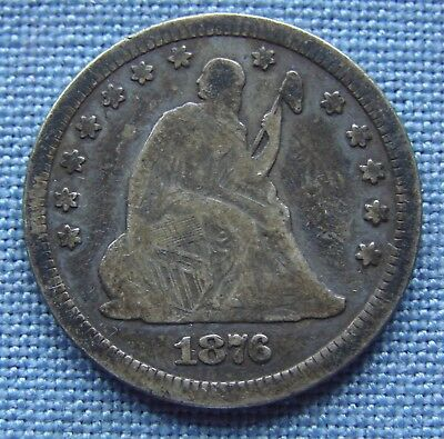 "*very Nice Looking 1876-Cc Seated Quarter ""carson City"" - Estate Fresh*"
