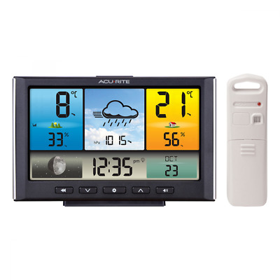 NEW AcuRite Weather Station with Colour LCD Display and Wireless Outdoor Sensor