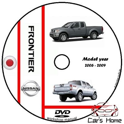 MANUALE OFFICINA NISSAN FRONTIER my 2006 - 2009 WORKSHOP MANUAL DVD