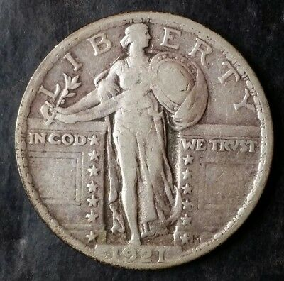 1921 25c Standing Liberty Silver Quarter Dollar