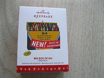 2016 Hallmark Ornament Big Box of 64 Crayola Crayons - New In Box