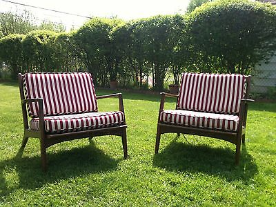 Pair of Rare, Mid-Century Danish Modern Lounge Chairs By Selig