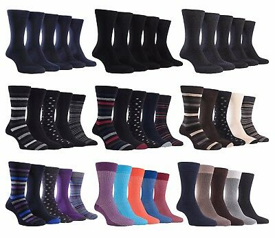 3 Pack Mens Breathable Coloured Funky Soft Top Luxury Cotton Dress Socks Farah