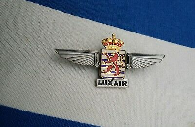 LUX AIR Luxembourg Pilot wings  Airline Aviation Airways badge