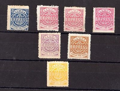 Samoa 1877 Express Collection of 7 MH X7929