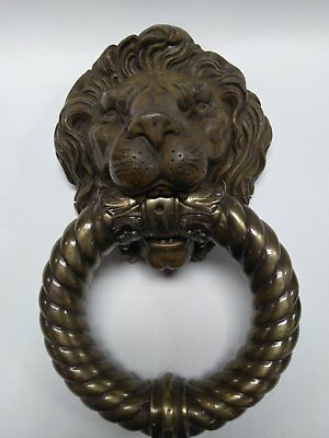Antique Bronze Lion Head Door Knocker Made In Spain  9X14