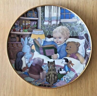 """The 1981 """"Storytime"""" Plate by Carol Lawson"""
