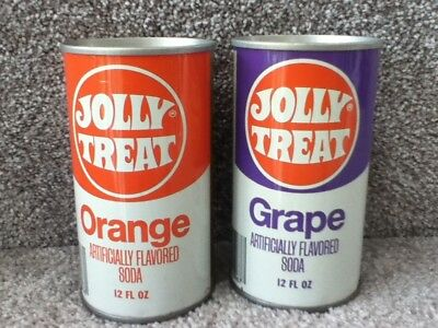 70's Straight steel Jolly Treat 12 oz cans. no ml listed. pull top
