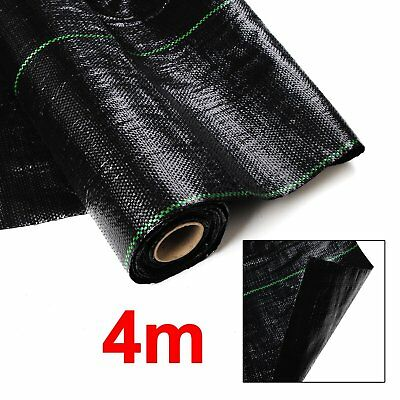 4M in 100gsm weed control fabric ground cover membrane landscape mulch garden