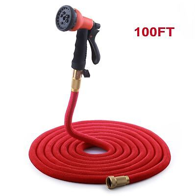 Expendable Garden Hose, 100 Ft Retractable Lightweight