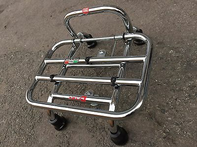BNWOT - FACO Vespa sprint Chrome Front Luggage Rack - RRP £169
