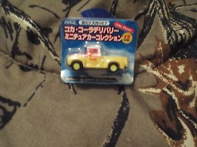 Coca-A-Cola Delivery Miniature Car Collection Yellow Delivery Truck-LOOK