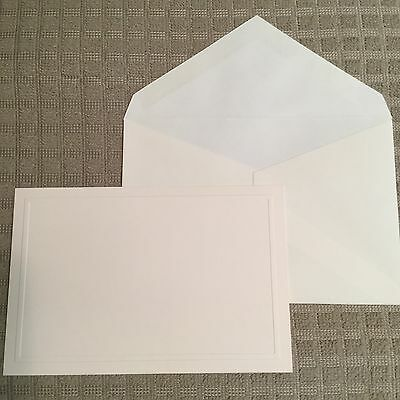 Crane and Co. Blind Embossed Bordered Ecruwhite Correspondence Cards Envelopes