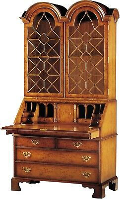 Scarborough House Secretary Bookcase Stunning Yew Double Arch Glass Bra