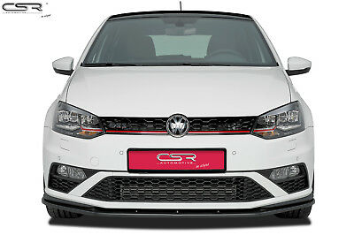 Cup Frontansatz Frontlippe Spoiler Carbon Look für VW Polo V Typ 6C GTI
