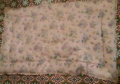 Vintage Floral Pink & Blue Feather Eiderdown ~ Single ~ Beautiful ~