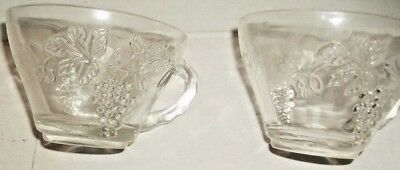 3 Clear Glass Punch Bowl Replacement Cups