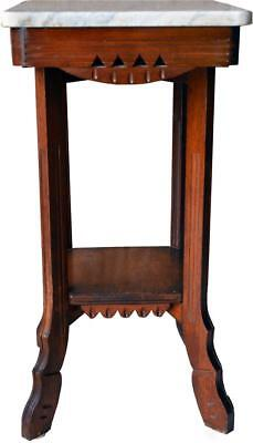 2946 Marble Top Victorian Night Table