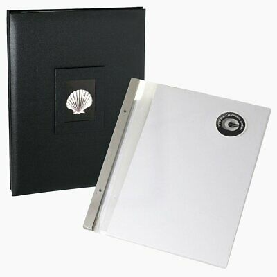 Coral Coast A3 Black Buckram Archival Scrapbook Album and Refills * 40 sleeves