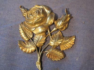 Old decorative cast brass fitting.Rose