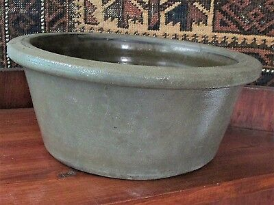 Stoneware Milk Pan; Pennsylvania 19Th Century