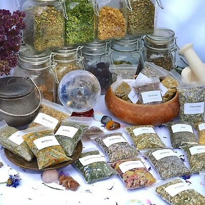 Dried herbs for wicca,witchcraft,spells,magic,incense,crafts V~Z (Choice of 200)