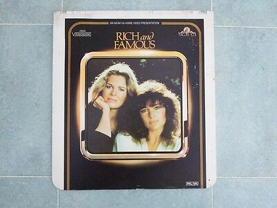 Rich and Famous CED Video Disc PAL/UK
