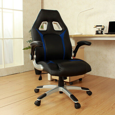 Office Executive Swivel, and Tilt Racing Style Video Gamer High Back Chair, Blue