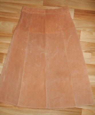 """Late 1970s SUEDE SKIRT ... 28"""" waist ... Vintage ... Hippie ... Suede/leather"""