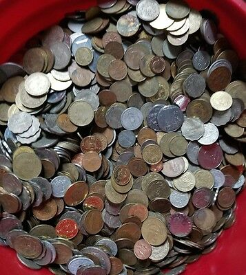 World Coins 10 Troy Pounds Of Foreign Poundage Lot Circulated & Uncirculated