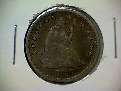 1875  25C  Liberty Seated Quarter #993
