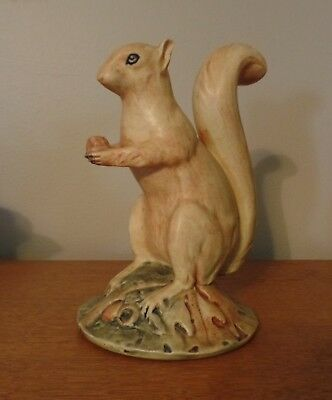Weller Rare Standing Squirrel With Acorn Figural