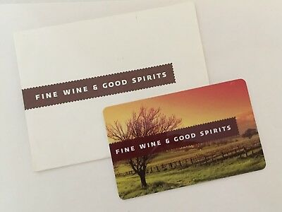 Fine Wine and Good Spirits Gift Card!!!! $25.00 VALUE!!!