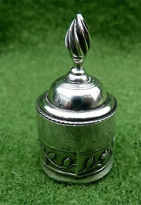 Tiny Round Silver Box With Groningen En Ommeland Silver 1765 Stuiver As The Base