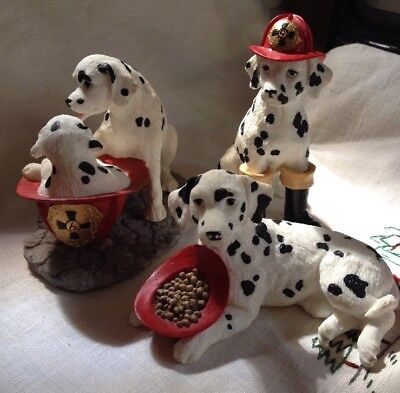 Westland Dalmatian Firehouse Resin Figurines 3 Different Ones!