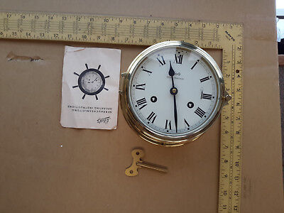 Vintage German Schatz Royal Mariner Ships Bell Clock Germany