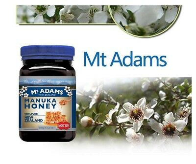 Mt Adams 100% New Zealand Manuka Honey Active MGO 250+ 500g Natural Free Post