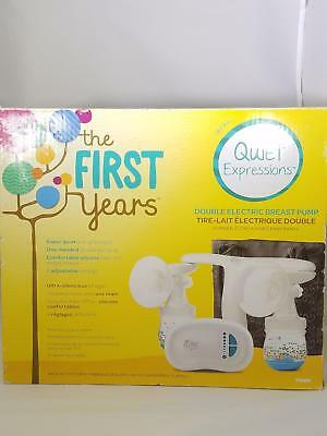 The First Years Electric Portable Double Breast Pump Quiet Expressions Tomy