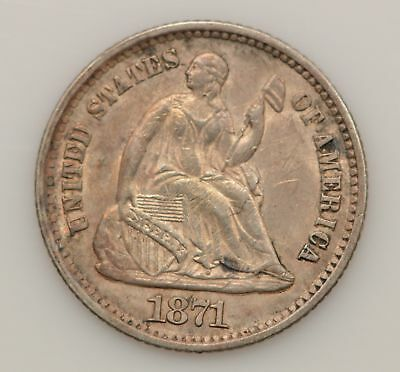 1871-P Seated Liberty Silver Half Dime *G64