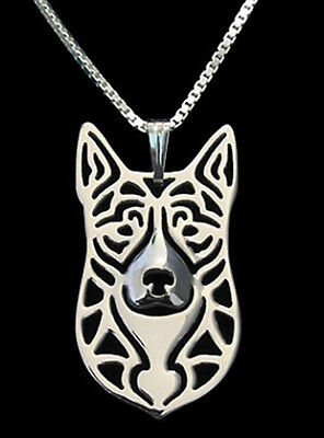 Australian Cattle Dog Pendant Necklace -  Fashion Jewellery - Silver Plated